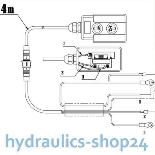 8L Hydraulikaggregat Hydraulik Pumpe 12 V 180 bar 2000W LKW Kipper Anhänger