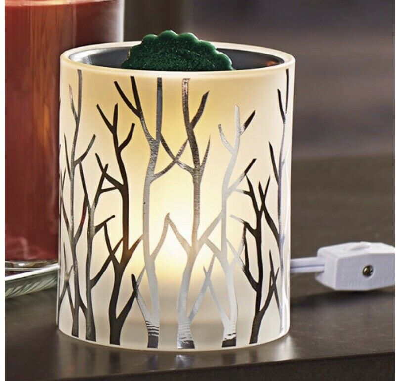 YANKEE CANDLE  FOREST GLOW Trees LED Light ELECTRIC WAX MELT WARMER Gift Box