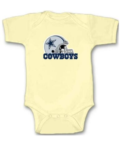 Dallas Cowboys Football Baby Bodysuit Cute New Gift Choose Size /& Color