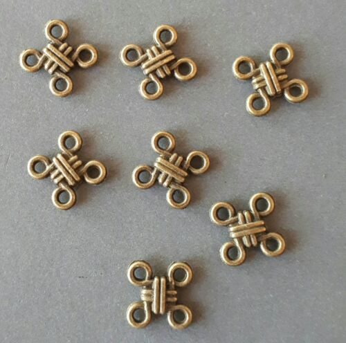 10pc-4 loop Celtic Knot charm brass tone celtic knot charm,small brass connector