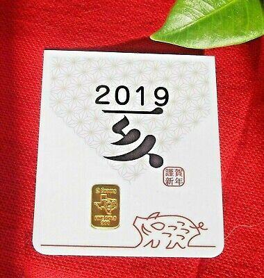 1//10 Gram Gold Bar  24K 999.9 Fine Gold Bullion Bar in sealed cert card 22dX