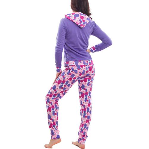 Pigiama donna felpato caldo MOSTRO maglia maniche lunghe pantaloni nuovo L1081
