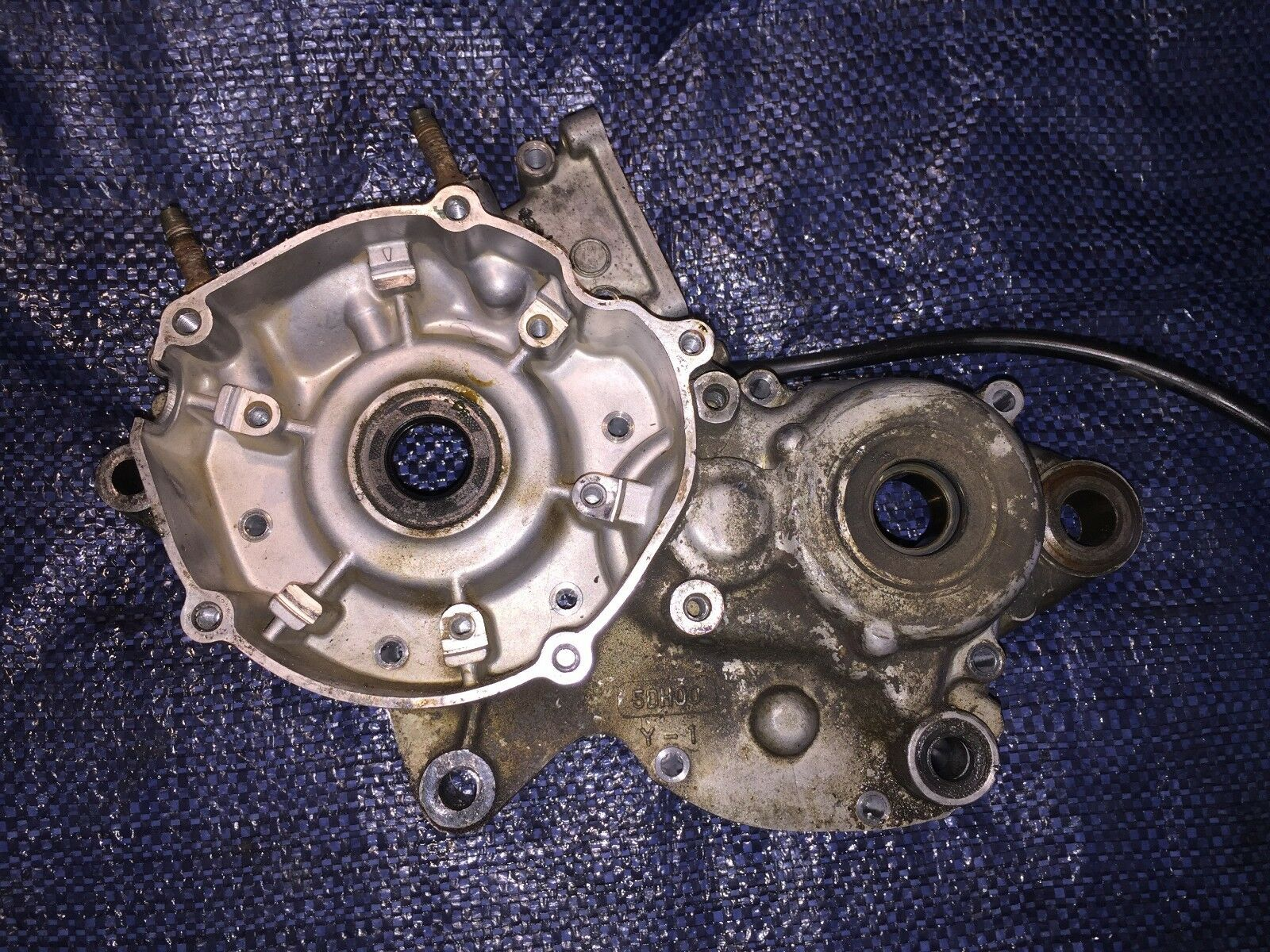 1998 1998 1998 98 Yamaha Yz125 Yz 125 Left Side Engine Case Bottom End Crankcase df6665