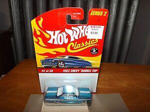 Hot Wheels Classics Series 2 #2  Blue 1962 Chevy Bubble Top
