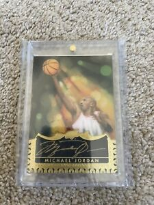 2015 UD Master Collection Michael Jordan Masterful Paintings Auto 1/1 Autograph