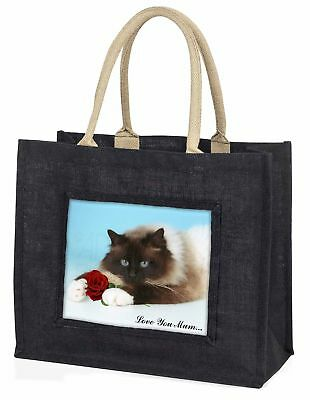 Birman + Rose' Liebe, die sie Mama' große schwarze Einkaufstasche