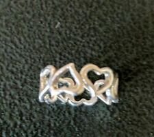 STERLING SILVER REPEATING HEART BABY RING TOE RING size 2  style# r0355