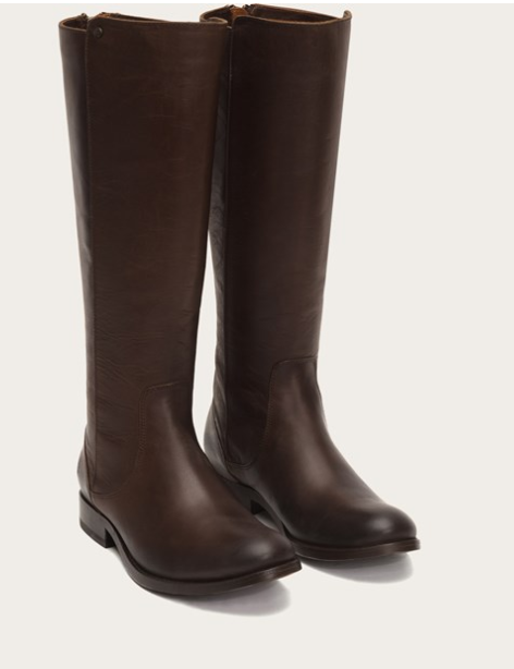 più economico donna FRYE MELISSA STUD STUD STUD BACK ZIP IN CHOCOLATE EXTENDED CALF  negozio online outlet
