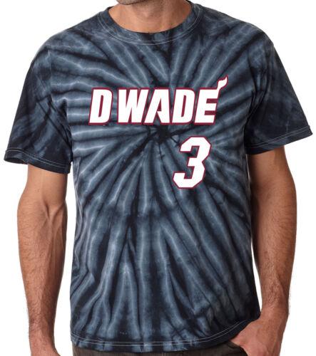 """Tie Dye Dwyane Wade Miami Heat /""""D Wade Logo/"""" T-Shirt"""