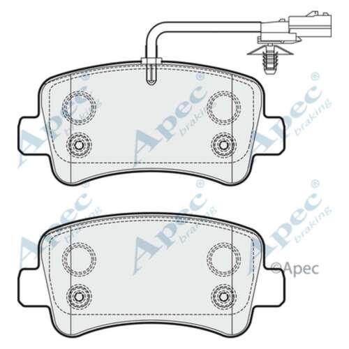 Fits Nissan NV400 2.3 dCi RWD Genuine OE Quality Apec Rear Disc Brake Pads Set