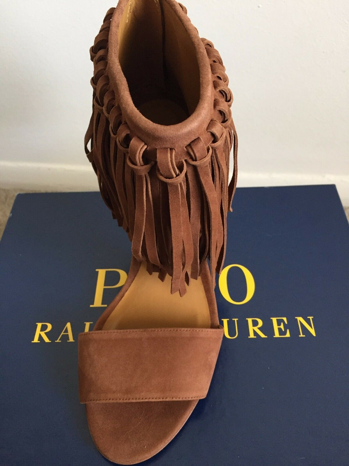 Polo Polo Polo Ralph Lauren Made in Spain woman shoes 38,5(8.5) shari fringed suede bf4172