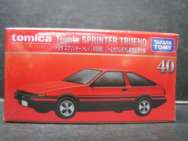 Takara Tomy Tomica Premium 40 Toyota Sprinter Trueno AE86 Car Diecast Limited