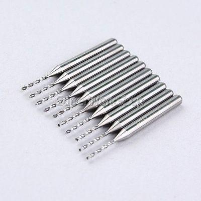 10x 1.0mm 1mm HQ Carbide PCB Rotary Tool Jewelry CNC Drill Bits