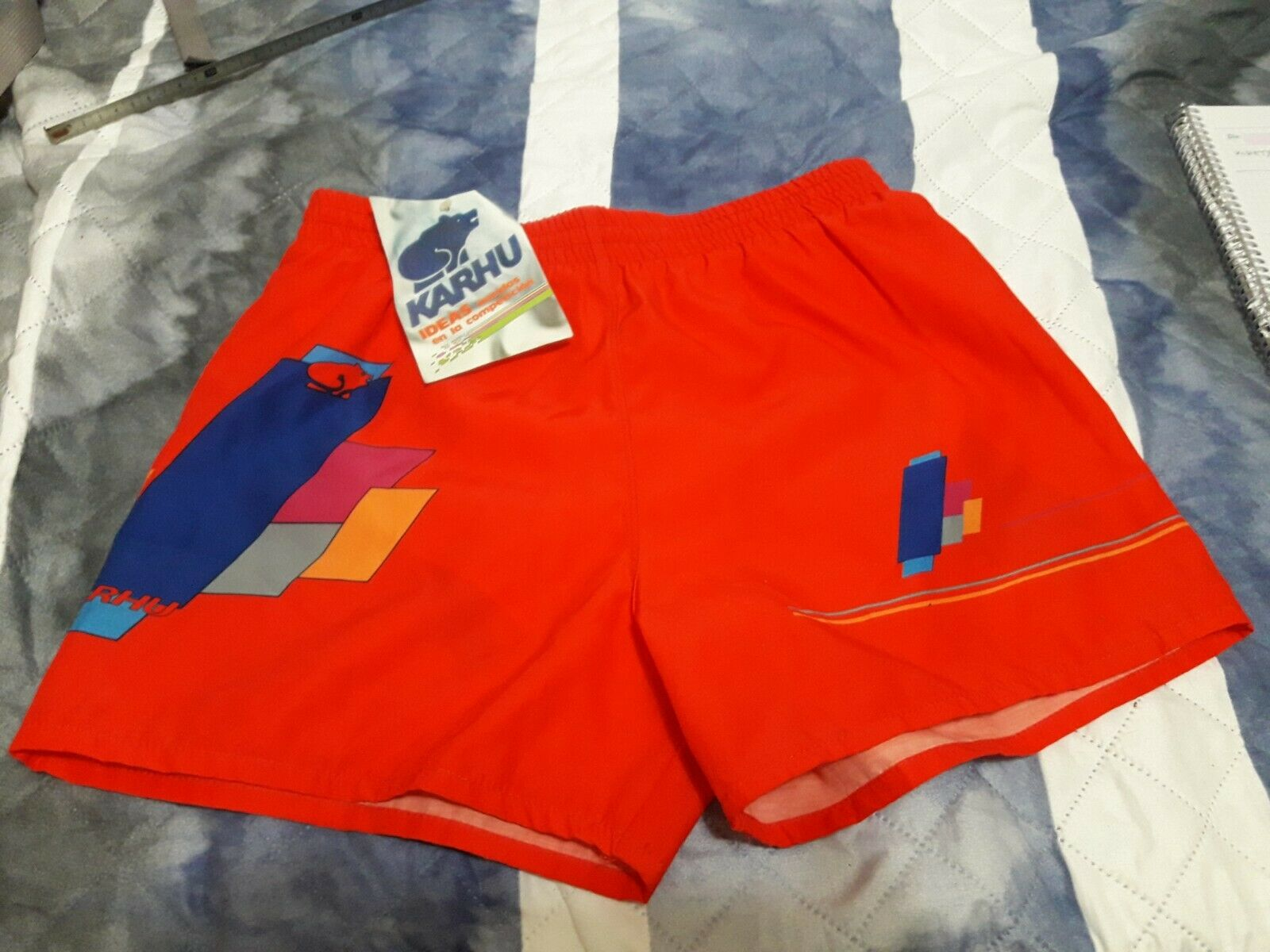 Vintage karhu kinetyc 80s bathing suit rare short sport new-show original title