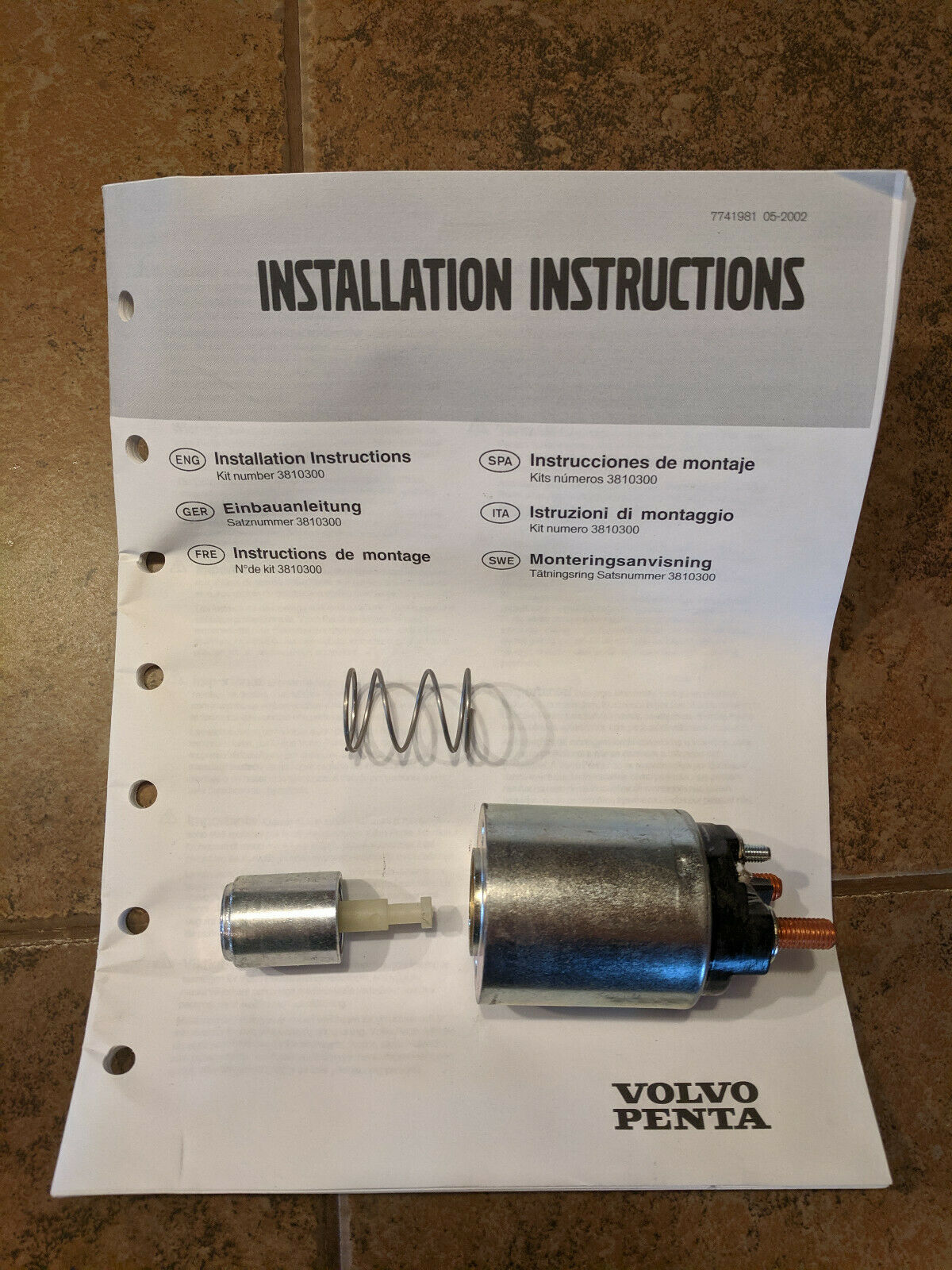 Genuine Volvo Penta Starter Solenoid Kit 3860606 3810300