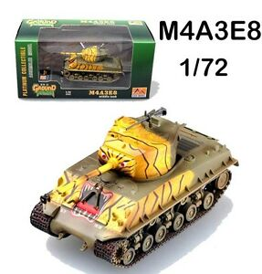 Details about Korean battlefield M4A3 E8 Sherman tiger paint Tank 1/72  finished Easy Model