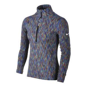 Womens Nike Long Sleeve Training Top Half Zip Size S (832052 478) Multicolour