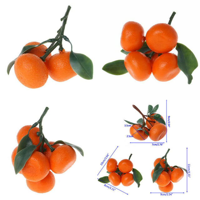 Lifelike Artificial Oranges Kitchen Restaurant Display Food Decor Prop 3/5/6