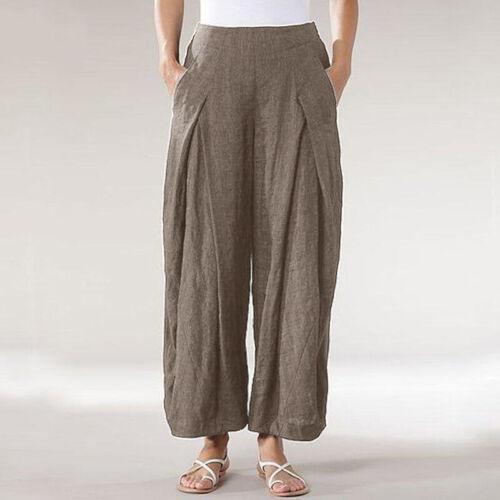 Women Harem  Baggy  Legs  Elastic  Casual  Plain Trousers  Wide  Waist  Pants