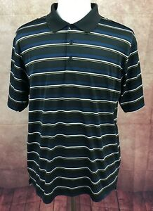 Adidas-Climacool-Golf-Polo-Short-Sleeve-100-Polyester-Black-Shirt-Men-039-s-L