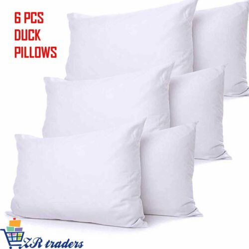 Luxury Duck Feather /& Down Pillows Soft Hotel Quality Extra Filling Firm Support