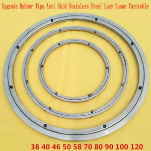Ordinaire Details About NEW Anti Skid Soft Rubber Tips Stainless Steel Lazy Susan  Turntable Swivel Plate