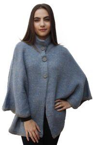 Women-039-s-Alpaca-Wool-Knit-Yarn-Cape-Coat-Poncho