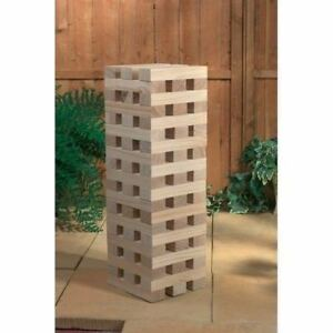 Giant Jenga Tower Wooden Blocks Outdoor Family Garden Game Kids Fun