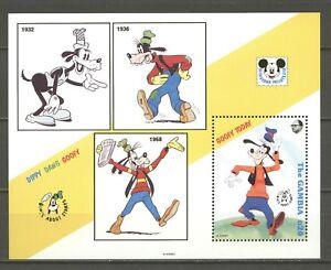 Walt-Disney-Goofy-Gambia-1-Bl-MNH-1992