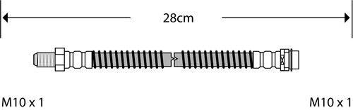 REAR BRAKE FLEXI HOSE BRAKE PIPE FITS MERCEDES W211 E CLASS 02-09 BFH3712B
