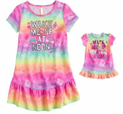 Girl 4 and Doll Matching Christmas Nightgown Pajama ft American Girls Dollie Me