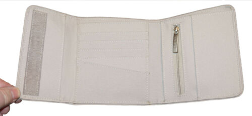 New Authentic Vintage Ladies LACOSTE Purse  WALLET Polyester Casual 2.15 Beige
