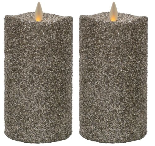 Glitter Hoogalife 1st Gen LED Flameless Candle,Real Wax,3-D Moving Wick