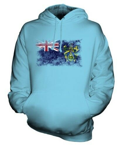 Pitcairn Inseln Distressed Flagge Unisex Kapuzenpulli Top Geschenk Kleidung