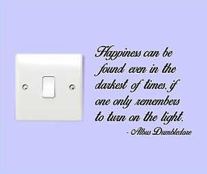 DUMBLEDORE-TURN-ON-THE-LIGHT-Harry-Potter-Quote-Bedroom-Sticker-Wall-Art-NEW