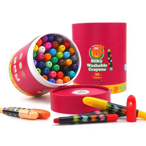 Niños Sedoso Lavable Lápices de Colores 24pk
