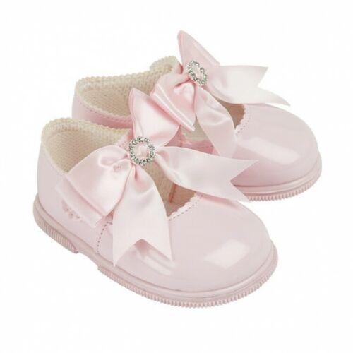 73 Baypods filles premiers jours strass Bow dur Semelles Chaussures en Rose
