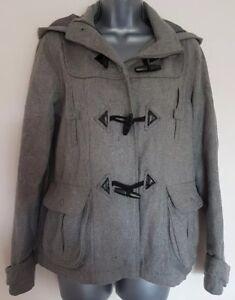 8cae1de0e94 MISS SELFRIDGE Duffle Coat Size 10 WOOL Blend Grey WINTER Warm ...