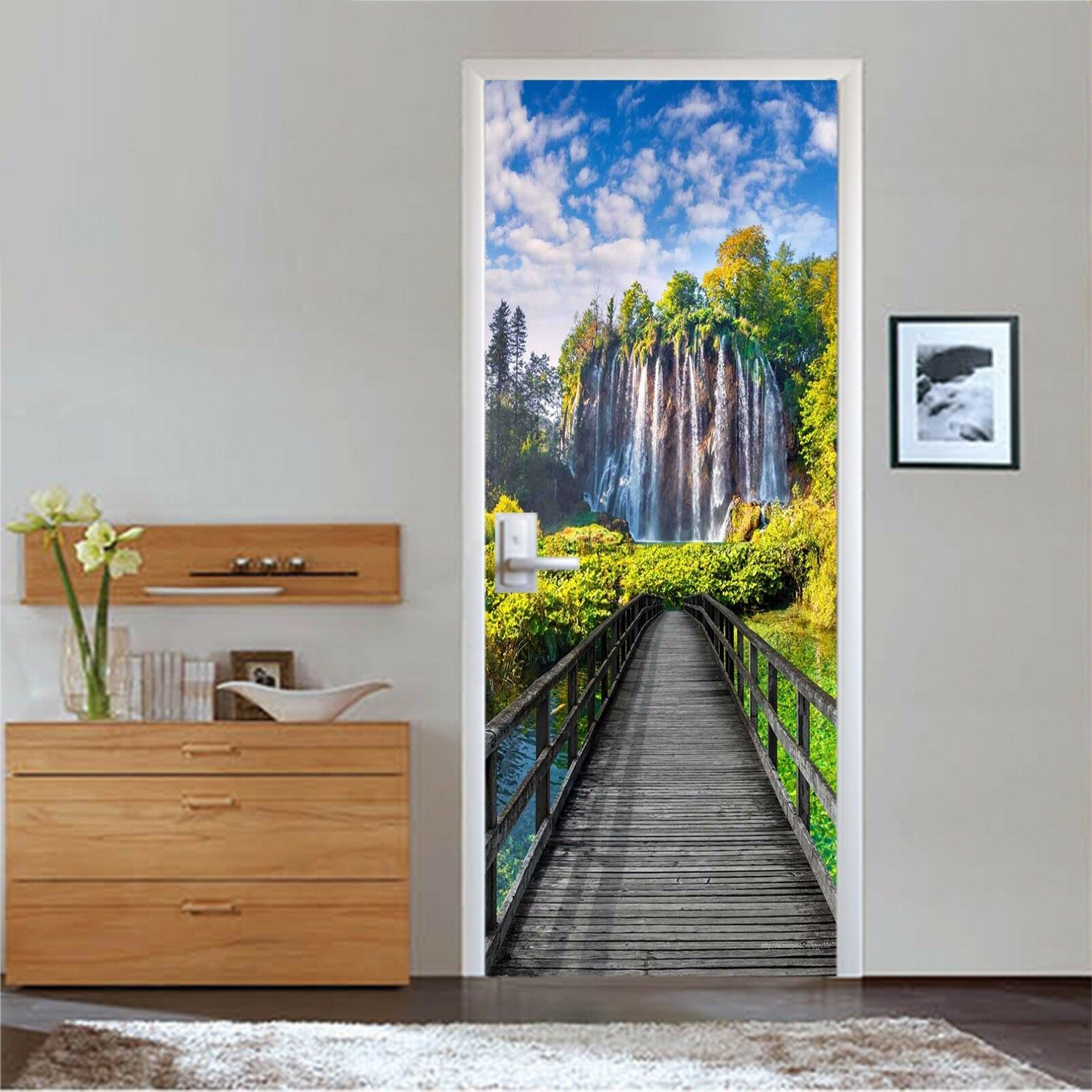 3D Wasserfall 745 Tür Wandmalerei Wandaufkleber Aufkleber AJ WALLPAPER DE Kyra | Toy Story  | Am praktischsten  | Qualität