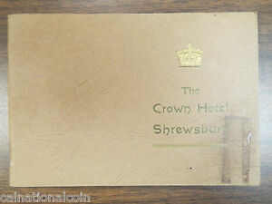 The Crown Hotel Shrewsbury Information Booklet 1939