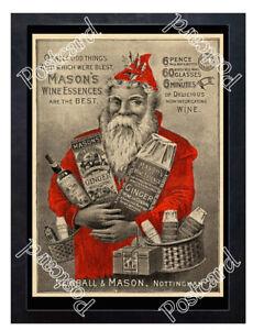 Historic-Mason-039-s-Wine-Essences-1890s-Advertising-Postcard