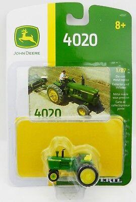 John Deere Modèle 4020 Tracteur avec étroit avant neuf dans emballage! ERTL 1:87 l/'échelle HO