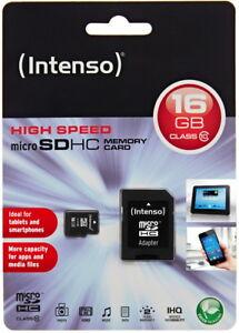 Intenso-Micro-SDHC-Karte-16GB-Speicherkarte-Class-10