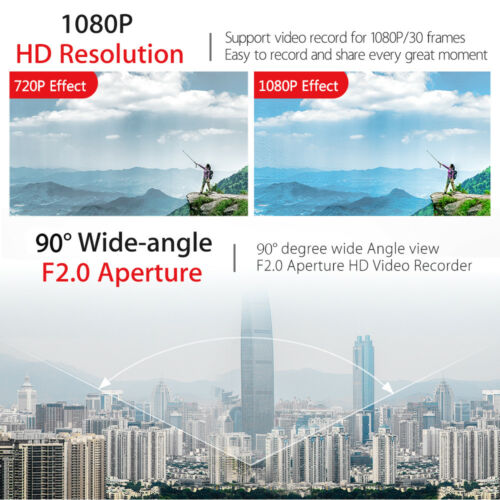 Caméscope grand angle HD 1080P Mini corps de caméra H.264 Videocámara