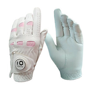 Ladies-Golf-Gloves-Ball-Marker-Women-Cabretta-Leather-Grip-Soft-Left-Right-Hand