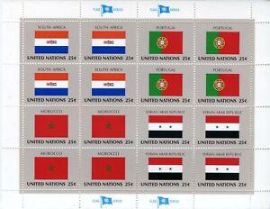 Adaptable Timbre Nations Unis New-york / Drapeaux Neuf Feuille N° 551/554 ** Cote ++ 30 € Diversifié Dans L'Emballage