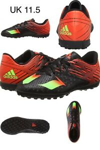 Adidas-Mens-Boys-Messi-15-4-TF-Astro-Turf-Chaussures-De-Football-Chaussures-Noir-Rouge-UK-11-5