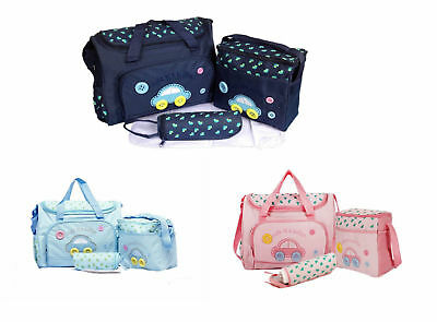 4pcs Car Style Baby Nappy Changing Bags Set Diaper Hospital Bag Mummy Shoulder H