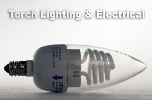 3-PACK ***SUPER SALE** TCP 3W Cold Cathode Torpedo Candelabra Light Bulbs Lamps