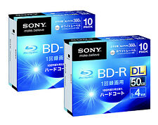 20 Sony 3D Bluray DVD DL BluRay Disc BD-R 4x BluRay 50GB Printable Repacked
